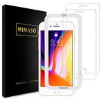 Nimaso iPhone8  /  iPhone7 用 強化ガラス液晶保護フィルムガイド枠付き2枚セット