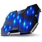 超静音 ノートパソコン 冷却パッド 冷却台 ノートPCクーラー 5つ冷却ファン 2段階角度調整 2口USBポート 17インチ型まで対応 ps3 ps4