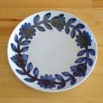 波佐見焼 デイジー 22cm ランチプレート デザートプレート お皿 中皿 西山 コバルトブルー 北欧風の花柄
