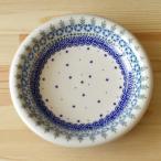 ポーリッシュポタリー 深皿 スーププレート 23cm ポーランド食器 V133-B214 花柄 星