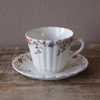 イギリス アンティーク 食器 スポード コープランド ウィッカーデール 花柄 コーヒーカップ ソーサー #200929-7
