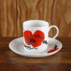 スージークーパー ひなげし花柄 コーンポピー コーヒーカップ ソーサー #180529-1,2