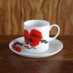 スージークーパー ひなげし花柄 コーンポピー コーヒーカップ ソーサー #180618-3~5