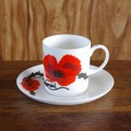 Susie Cooper スージークーパー コーンポピー コーヒーカップ ソーサー #180618-6