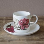 ヴィンテージ食器 スージークーパー プレイリー リリー ゆり 花柄 コーヒーカップ ソーサー #190710-2~4
