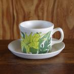 ウェッジウッド Riviera リビエラ きみどり花柄 コーヒーカップ&ソーサー #180420-1,2