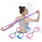 マルチチューブ エクササイズチューブ トレーニングチューブ 8字タイプ 弾性 ゴムチューブ 姿勢改善 肩こり防止 ストレス消解 疲労回復 天然ゴム 無