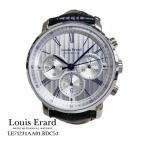 ルイ ・エラール 腕時計 Louis Erard  エクセレンス  クロノ LE71231AA01.BDC51  シルバー文字盤 黒革ベルト 自動巻き メンズ