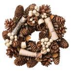 大橋新治商店 木の実のリース Natural Wreath リース 20cm 木の実ブラウン 28-007