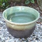 睡蓮鉢 RF004-S 緑茶(小)の画像