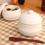 どんぐり 蓋付き白いカップ       洋食器 和食器 業務用 可愛い おしゃれ 蓋付き 茶碗蒸し 日本製 アウトレット込み商品