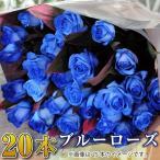 誕生日プレゼント 女性 バラの花束 青いバラ 20本 卒業 卒園 入学祝い花束 誕生日 記念日 送別 退職 花束 青いバラ ブルーローズの花束 青いバラ20本の花束