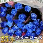 誕生日プレゼント 女性 バラの花束 青いバラ 25本 卒業 卒園 入学祝い花束 誕生日 記念日 送別 退職 歓送迎 花束 バラの花束 ブルーローズ 青いバラ25本の花束