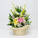 ショッピング誕生日 誕生日の花 アレンジメント ユリ 百合 ピンク&ホワイトリリーアレンジメント