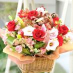 ショッピングバラ 花 ギフト  誕生日の花 プレゼント 赤バラ 薔薇 ばら レッドローズミックスL