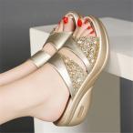 サンダル レディース ミュール ウエッジ 厚底 オフィス かわいい 歩きやすい シューズ 靴 カジュアル