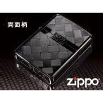 zippo ジッポー ライター レギュラー Tsumugi つむぎ 2BK-MESH 黒