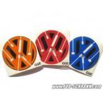 VW カラーエッジエンブレムシート リア /ゴルフ5(-'07)/ゴルフ6/ポロ6R