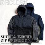 代引料無料 17-18 HOLDEN ウェア Sherpa Hybrid Zip Up Jacket タウンジャケット メンズ ジャケット