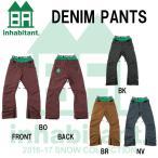 16-17 inhabitant インハビタント スノーボードウェア DENIM PANTS デニム パンツ メンズウエア