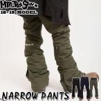 代引料無料 17-18 Mtn. Rock Star マウンテンロックスター スノーボードウェア NARROW PANTS ナローパンツ ユニセックス