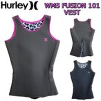 ウェットスーツ タッパー 1mm レディース ベスト HURLEY ハーレー ウェットスーツ FUSION 101 ウエットスーツ ジャケット 2015