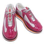 ショッピングPRADA PRADA プラダ 靴 レディース Linea Rossa (リネア ロッサ) スニーカー ワイン×シルバー (3E5398 VERNICE+BIKE1 WN系)