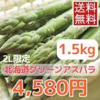 蘆筍 - 露地栽培北海道グリーンアスパラガス(1.5kg、2Lサイズ)