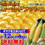 とうもろこし トウモロコシ 北海道産 ゴールドラッシュ M〜2L混合 10本+2本の計12本 約4kg前後 不揃い 送料無料 冷蔵