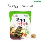 宗家 ネギキムチ 300g ×10袋 1ケース パギムチ 葱キムチ【新鮮お取り寄せキムチ】