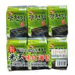 光天のり 12パック×10袋 1BOX ごま油海苔 韓国産 韓国のり 韓国味付けのり