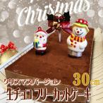 予約受付中【クリスマスケーキ 北海道生チョコフリーカットケーキ 長さ30cm