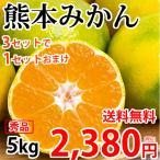 みかん 送料無料 極早生みかん 秀品 5kg 2S〜L 熊本県産 3箱購入で1箱おまけ お取り寄せ 蜜柑 ミカン