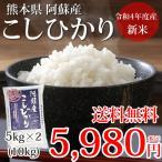 こしひかり 米 送料無料 10kg 5kg×2 29年産新米 熊本県阿蘇産 地域限定米 お米 新米 こめ ひのひかり