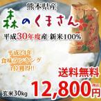 森のくまさん 米 玄米 30kg 白米 27kg 送料無料 29年度産新米 熊本県産 お米 こめ 新米 ひのひかり こしひかり