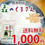 森のくまさん 米 送料無料 お試し 計900g 450g×2 約6合 熊本県産 ポイント消化 ポッキリ お米 白米 玄米 コシヒカリ ヒノヒカリ