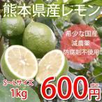 希少な国産レモン 熊本県産 レモン 1kg S〜L 減農薬 防腐剤ワックス不使用 れもん グリーンレモン 国産