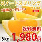 熊本県産 訳あり スイートスプリング 5kg S〜2L 送料無料 2箱購入で1箱おまけ みかん 蜜柑 ミカン