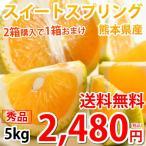 スイートスプリング みかん 送料無料 秀品 5kg S〜2L 熊本県産 3箱購入で1箱おまけ 爽やかな甘さと香り 蜜柑 温州みかん 八朔