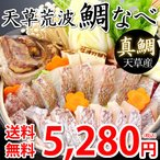 鯛 鯛なべ 真鯛 送料無料 500gセット 3〜4人前 熊本天草産 海鮮 ギフト 丸木水産 鮮魚 刺身