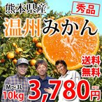 みかん 送料無料 温州みかん 秀品 10kg 2S〜L 熊本県産 蜜柑 ミカン