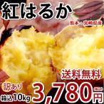 さつまいも 紅はるか 訳あり 10kg 箱込(内容量9kg+補償分500g) 送料無料 無選別 べにはるか 熊本県産 サツマイモ 紅蜜芋 焼き芋 芋 いも