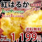 紅はるか べにはるか 訳あり 1.5kg 送料無料 2セット購入で1セットおまけ 3セット購入で3セットおまけ お取り寄せ さつまいも 熊本県産 焼き芋 芋 いも
