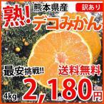 デコポン 同品種 訳ありデコみかん 送料無料 4kg S〜3L 熊本県産 ポンカン みかん ミカン 蜜柑