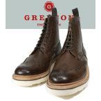【送料無料】GRENSON  グレンソン Fred V Big Vibram Wing Tip Boots ウィングチップブーツ/カントリーブーツ 5068 ダークブラウン235V..