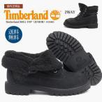 ティンバーランド Timberland ROLL TOP(JUNIOR) 43960 Black ボア付ブーツ