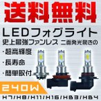 3%クーポン送料無料 140w-180wより明るい 60W LEDバルブ H7/H8/H11/H16/HB3/HB4/T20/PSX26W フォグランプ ミニボディ 2個 1年保証 L