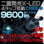 5%クーポン 送料無料 EMC対応  LEDヘッドライト オールインワン 9600lm  両面発光 40W H1 H3 H4 H7 H8 H11 フォグランプ LEDバルブ 1年保証slj