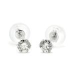 ダイヤモンド ピアス 一粒 プラチナ Pt900 0.3ct スタッドピアス シンプル 0.3カラット 数量限定プライス 送料無料