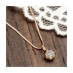 ダイヤモンド ネックレス 一粒 K18 ピンクゴールド 0.1ct ダイヤネックレス Hカラー I1クラス 0.1カラット ペンダント 直送品/代引不可